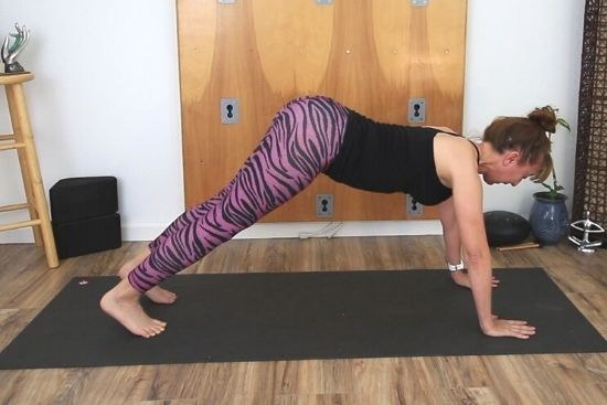 high plank with butt lifted too high