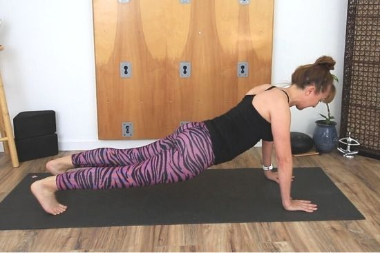 high plank with droopy hips