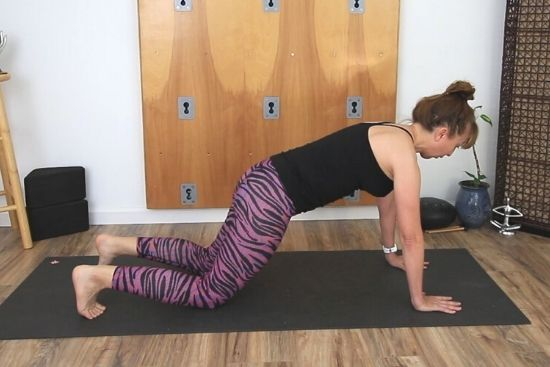 high plank on the knees