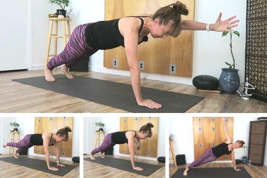 high Plank yoga pose progressions - balance