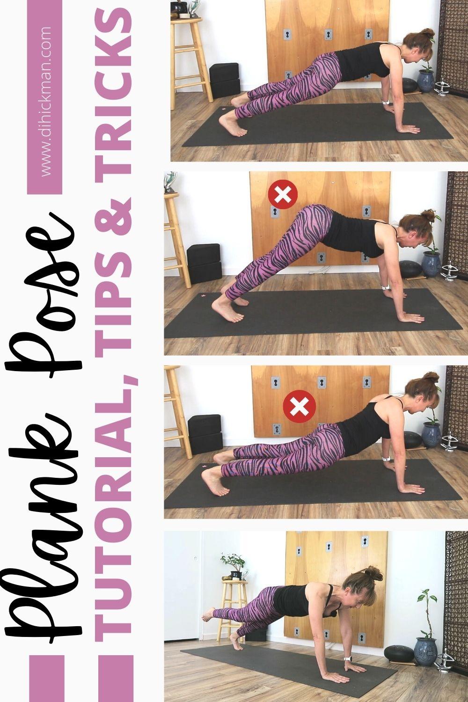 Plank pose tutorial, tips & tricks
