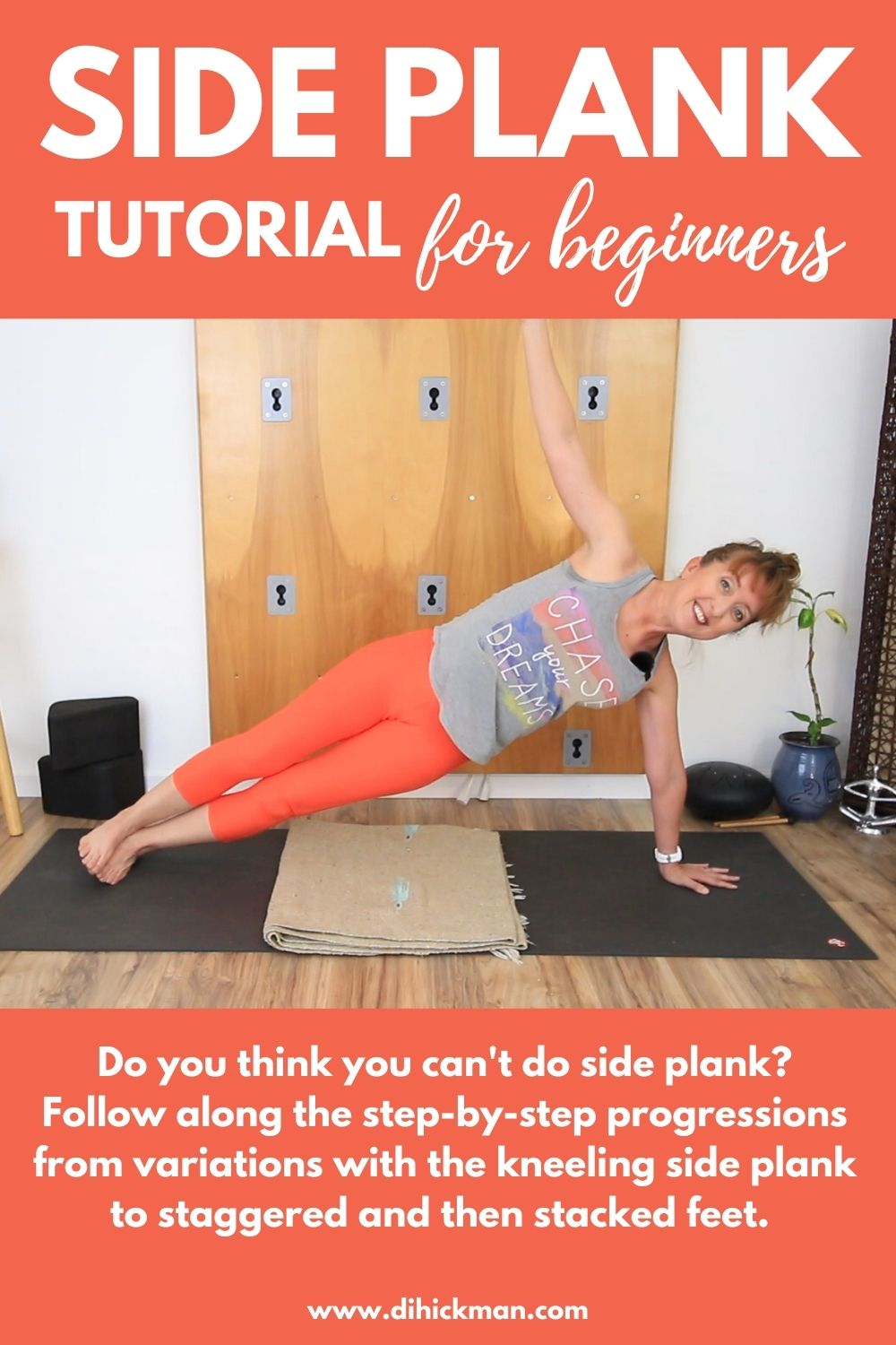 side plank tutorial for beginners