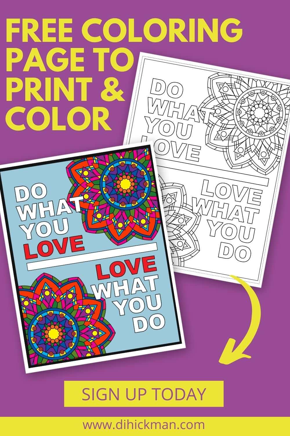 Free coloring page to print & color