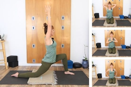 low lunge arm positions