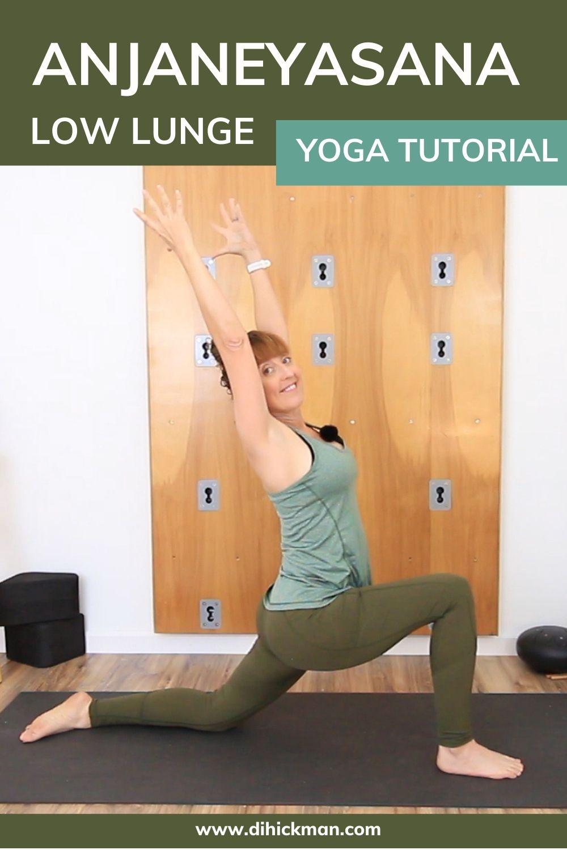 Anjaneyasana low lunge yoga tutorial