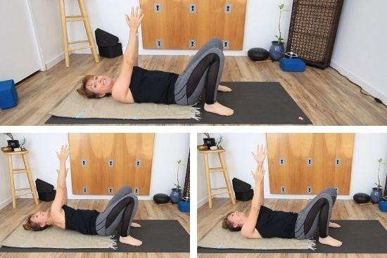 lying on yoga mat
