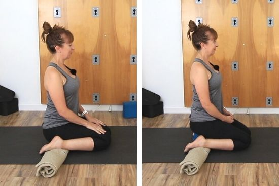 virasana hero pose with ankles supported