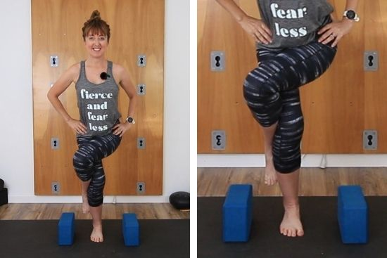 knee pain in eagle pose