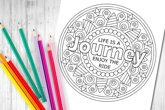 life is a journey enjoy the ride coloring page