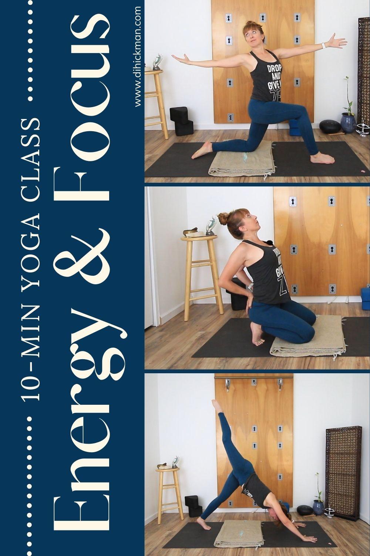 10-min yoga class for energy & focus