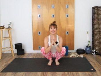deep yoga squat, malasana, garland pose