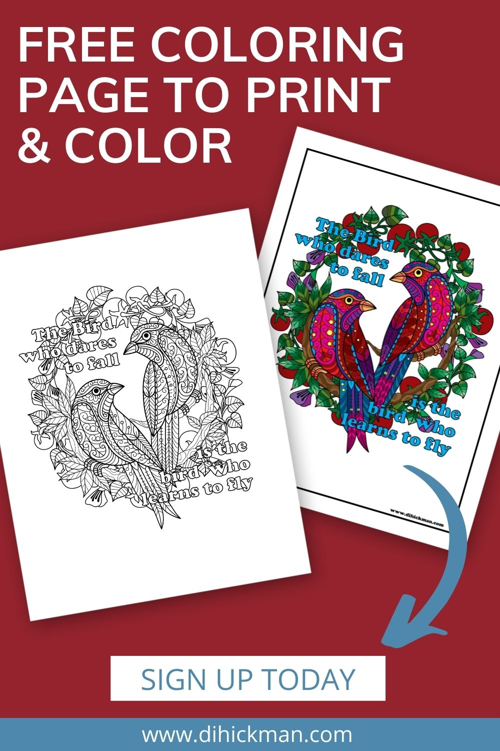 free coloring page to print and color, sign up today