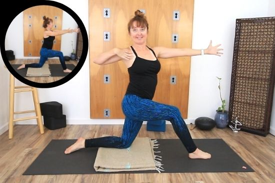 Somatic Twist Yoga  pose in low lunge